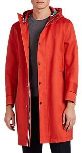 Thom Browne MEN'S COTTON MACKINTOSH HOODED PARKA - RED SIZE 0