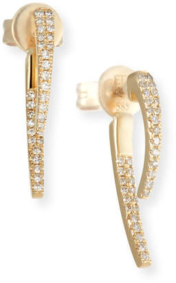 Ef Collection 14k Gold Diamond Hook Earrings
