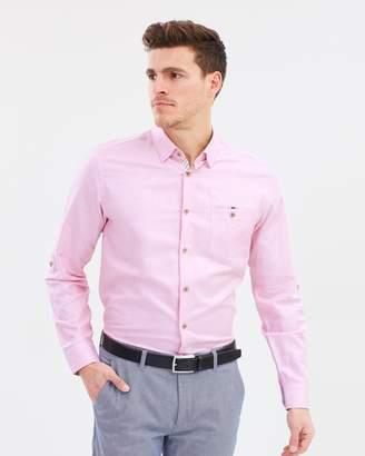 Ted Baker Jaames Linen Cotton Shirt