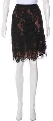 Lanvin Lace Knee-Length Skirt