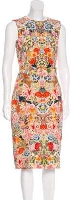 Alexander McQueen Floral Sheath Dress