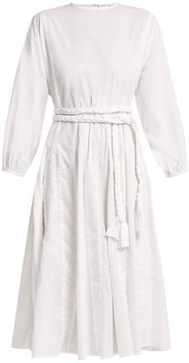 RHODE RESORT Devi braided belt cotton dress