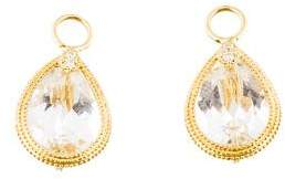 Jude Frances Topaz & Diamond Earrings Enhancers