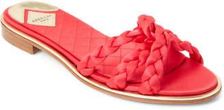 Aperlaï Guiana Braided Strappy Satin Slide Sandals