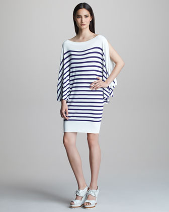 Jean Paul Gaultier Striped Bateau-Neck Dress