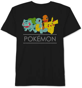 Pokemon Graphic-Print Cotton T-Shirt, Big Boys