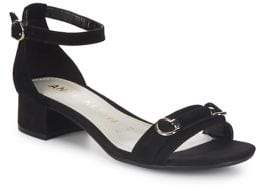 Anne Klein Esme Nubuck Leather Sandals