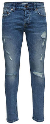 ONLY & SONS Ripped Slim Jeans