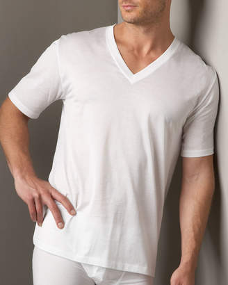 Hanro Cotton Sporty V-Neck T-Shirt