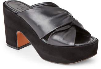 Robert Clergerie Black Esther Chunky Platform Slide Sandals