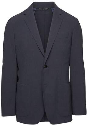 Banana Republic Standard Smart-Weight Performance Wool Blend Seersucker Suit Jacket