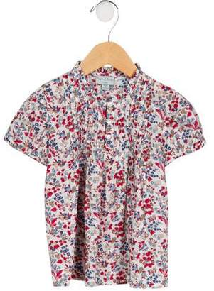 Papo d'Anjo Girls' Floral Puff Sleeve Top