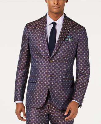Tallia Men Slim-Fit Medallion Jacquard Suit Jacket