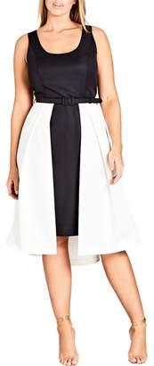 City Chic Hepburn Colorblock Dress