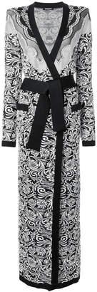 jacquard knit robe