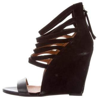 IRO Suede Wedge Sandals