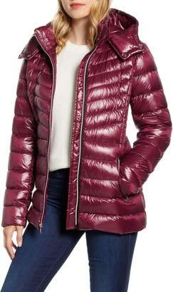 Cole Haan Chevron Quilted Down Jacket