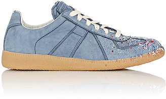"Maison Margiela Women's ""Replica"" Low-Top Sneakers-BLUE $660 thestylecure.com"