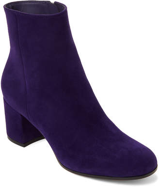 Gianvito Rossi Purple Suede Block Heel Ankle Boots