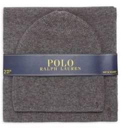Polo Ralph Lauren Cashmere Blend Hat& Scarf Set