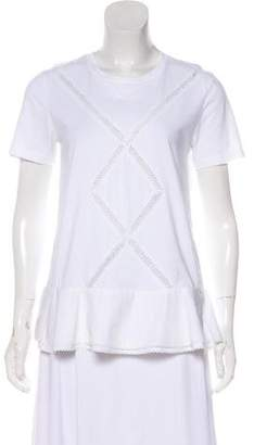 Thakoon Short Sleeve Peplum Top