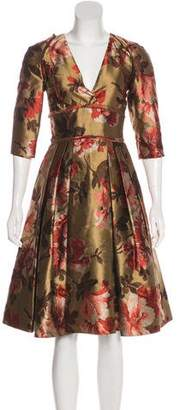 Burberry Silk Brocade Dress