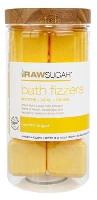 Raw Sugar Lemon Sugar Bath Fizzers - 8ct
