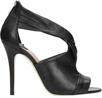 The Seller Knot Metal Black Sandals