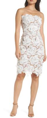 Adelyn Rae Jade Strapless Lace Dress
