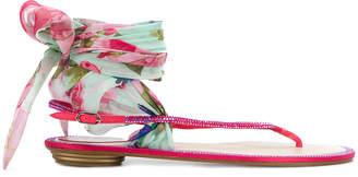 Rene Caovilla ankle tie sandals