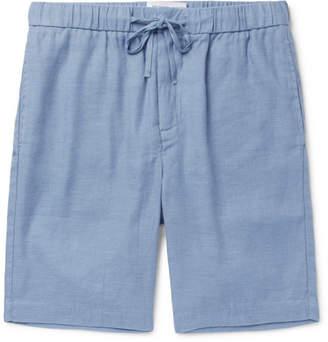 Frescobol Carioca Slim-Fit Linen And Cotton-Blend Drawstring Shorts