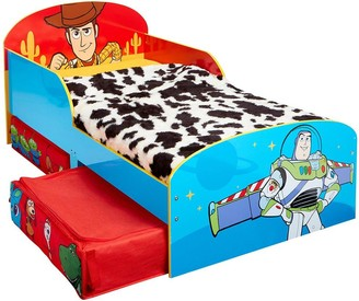 Toy Story 4 Kids Toddler Bed with Storage Drawers by HelloHome