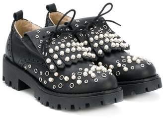 Ermanno Scervino embellished fringe loafers