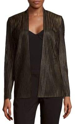 Akris Silvester Striped Open-Front Jacket