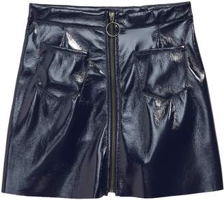Tucker + Tate Faux Leather Zip Skirt