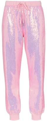 Ashish x browns badass sequin embellished track pants