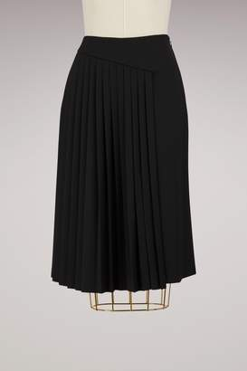 Lanvin Pleated Wool Skirt