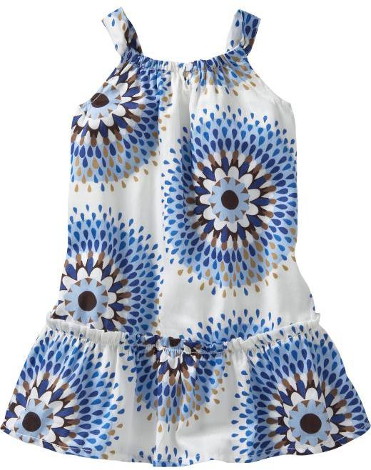 Sunburst-printed party dress