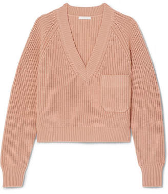 Chloé Ribbed Wool Sweater - Antique rose
