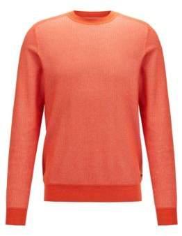 5b1d94c1df4d BOSS Regular-fit sweater in micro-jacquard cotton