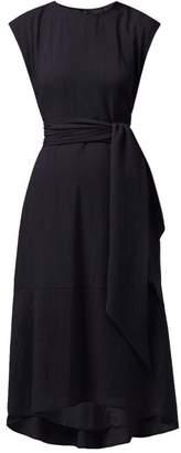Freya Cefinn Tie Waist Voile Midi Dress - Womens - Navy