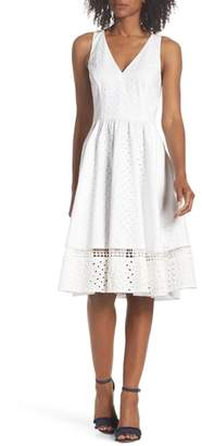 Eliza J Bow Back Eyelet Sundress