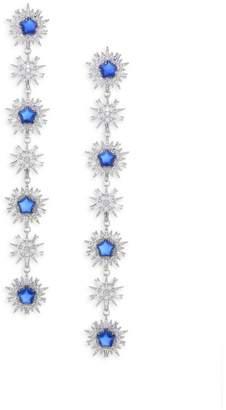 Adriana Orsini Cubic Zirconia & Rhodium-Plated Linear Earrings