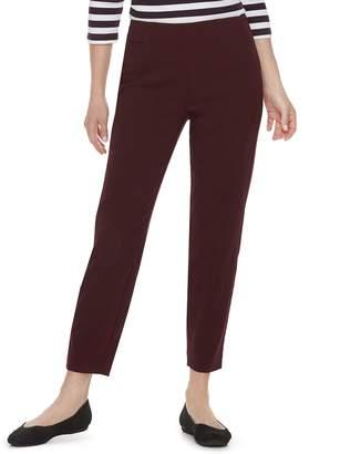 Croft & Barrow Petite Polished Pull-On Ankle Pants