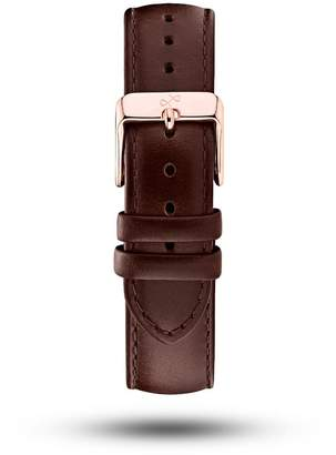 About Vintage - Dark Brown Leather Strap & Rose Gold