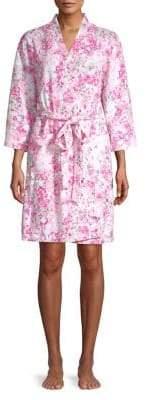 Miss Elaine Floral-Print Robe
