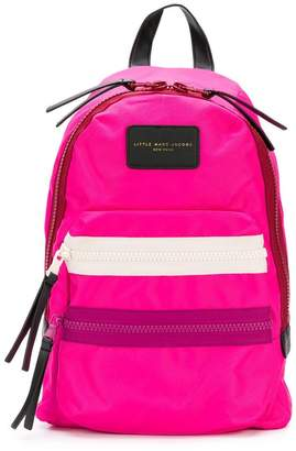 Little Marc Jacobs logo patch backpack