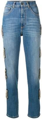 Amen embellished detail jeans