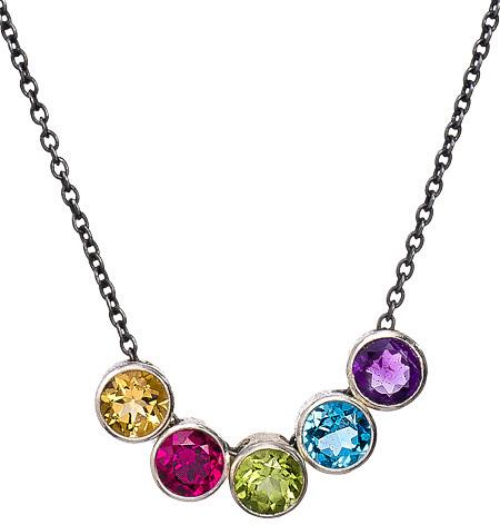 Zina Kao Exclusives Multi-birthstone Necklace