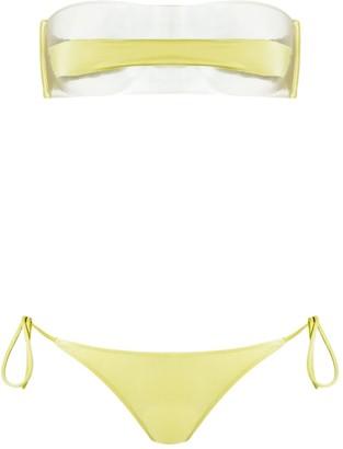 Adriana Degreas sheer top bikini set